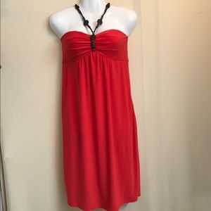 Bisou Bisoue red strapless dress